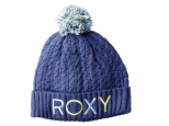 Roxy Fjord Pom-Pom Beanie Crown Blue