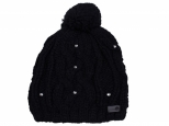 Roxy Shooting Star Pom-Pom Beanie True Black