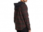 DC Runnels Long Sleeve Hooded Flannel Shirt Dark Olive (thumb #3)