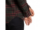 DC Runnels Long Sleeve Hooded Flannel Shirt Dark Olive (thumb #5)