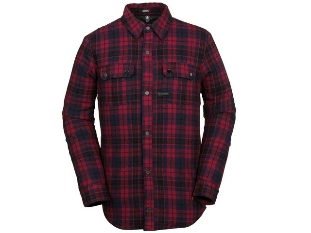 Volcom Sherpa Flannel Jacket Red (detaliu #0)