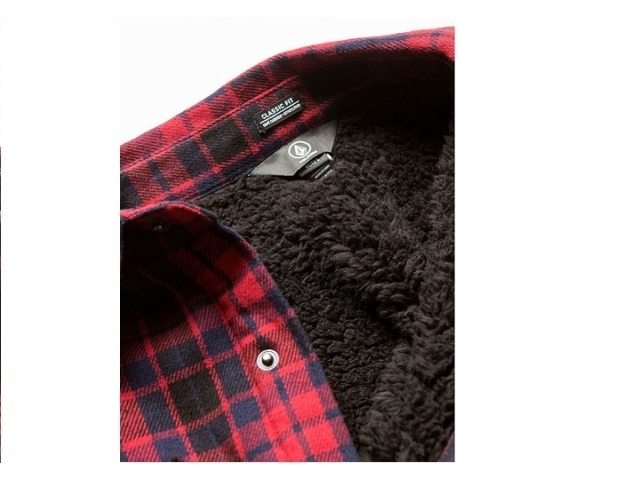 Volcom Sherpa Flannel Jacket Red (detaliu #2)