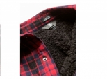 Volcom Sherpa Flannel Jacket Red (thumb #2)