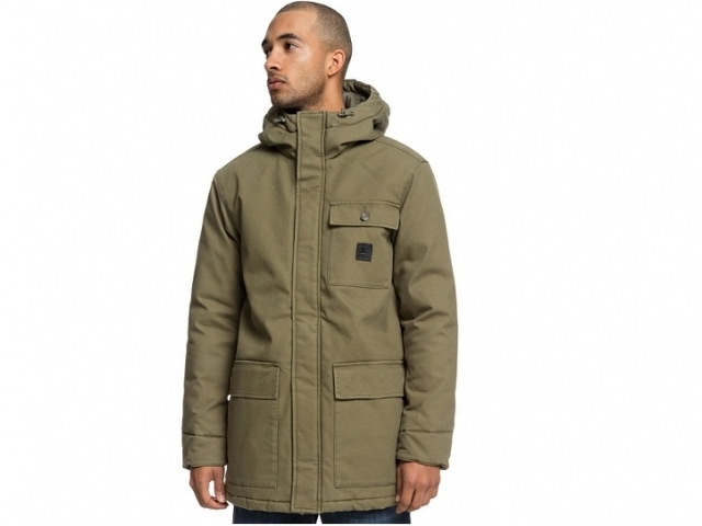DC Canongate 2 Water Resistant Worker Parka Burnt Olive