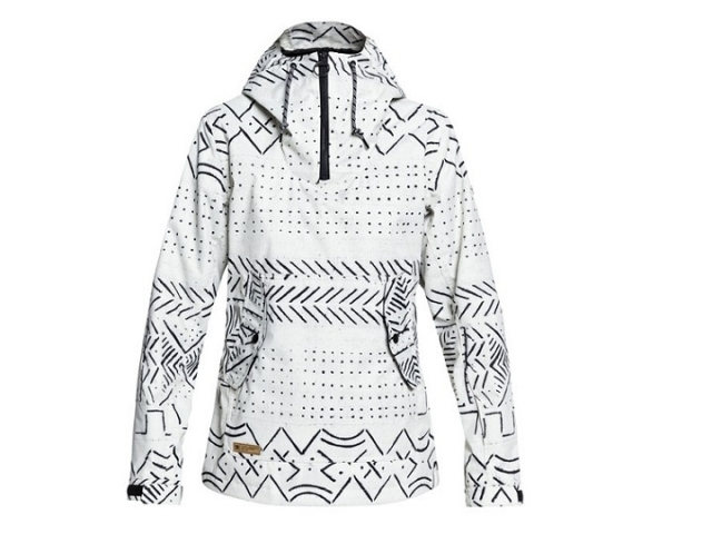 DC Skyline Anorak Snow Jacket Silver Birch Mud Cloth