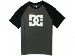 DC Star Raglan Black/Charcoal Heather