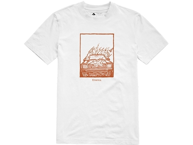 Emerica Burner Tee White