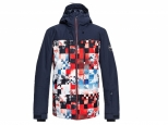 Quiksilver Mission Block Snow Jacket Flame Scarlet Money Time