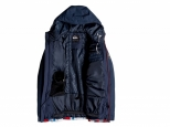 Quiksilver Mission Block Snow Jacket Flame Scarlet Money Time (#1)