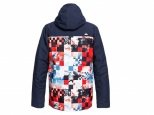 Quiksilver Mission Block Snow Jacket Flame Scarlet Money Time (#2)