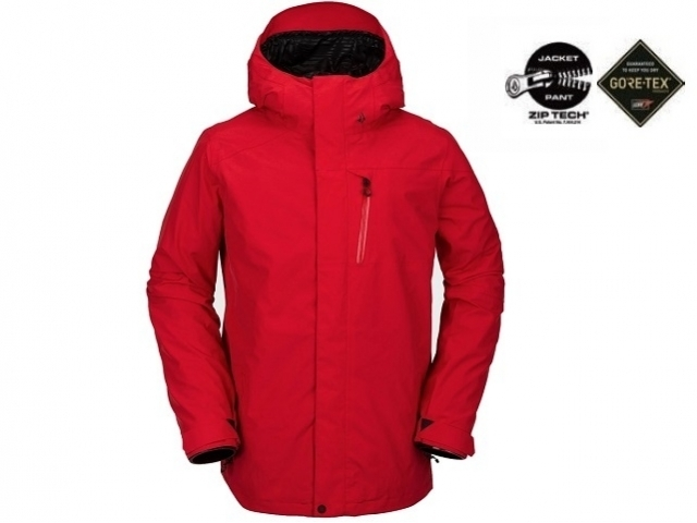 Volcom L Insulated Gore-Tex Jacket Red (detaliu #0)