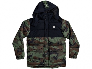 DC Straffen Water-Resistant Hooded Puffer Jacket Camo (thumb #0)