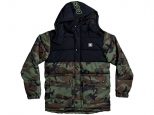 DC Straffen Water-Resistant Hooded Puffer Jacket Camo (#0)