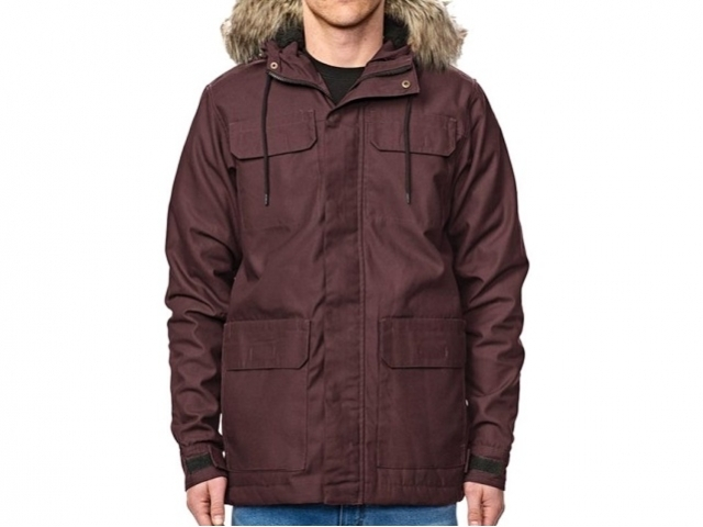 Globe Goodstock Thermal Parka Wine