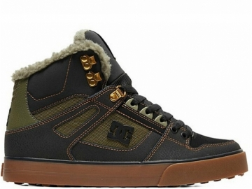 DC Pure High-Top WC WNT Black/Olive (thumb #0)
