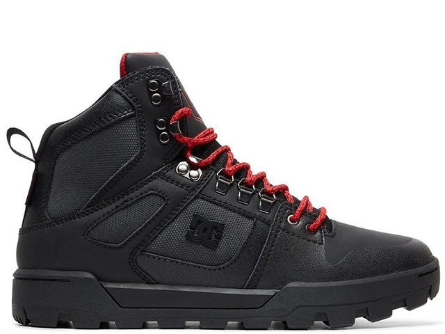 DC Pure High-Top WR Boot Black/Grey/Red