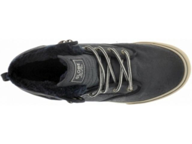 Globe Motley Mid Fur Skate Shoes Black Golden Brown Fur