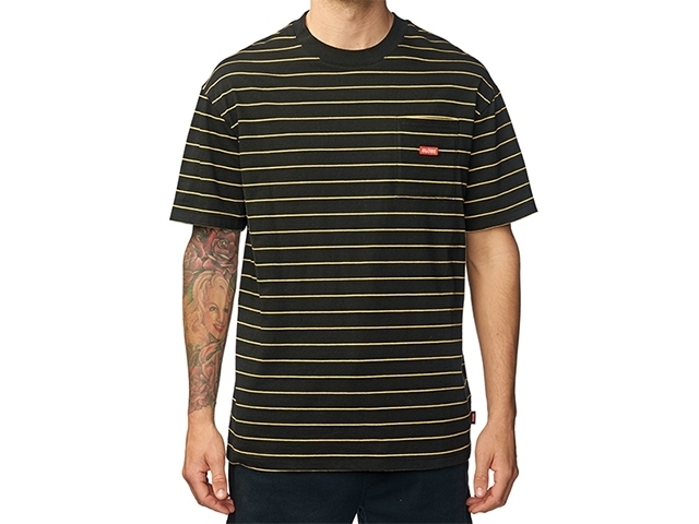 Globe Bar Stripe Tee Black (detaliu #0)