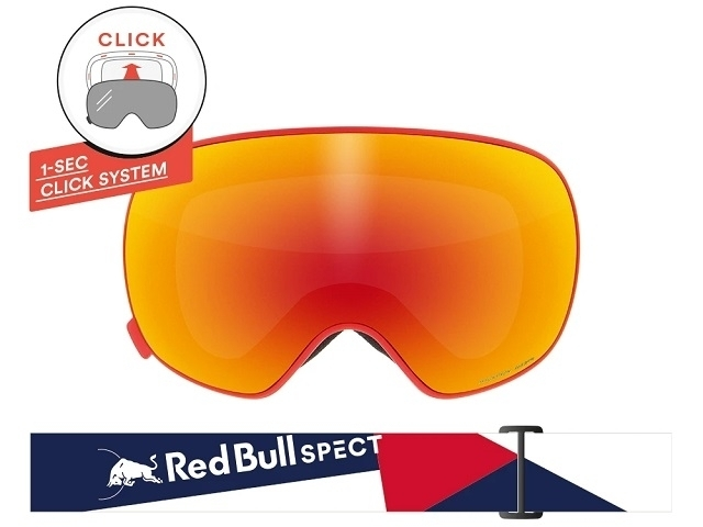Red Bull SPECT Magnetron Mirrored-021 Red (detaliu #2)