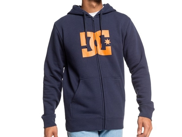 DC Star Zip-Up Hoodie Black Iris/Orange Popsicle (detaliu #0)