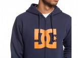 DC Star Zip-Up Hoodie Black Iris/Orange Popsicle (thumb #1)