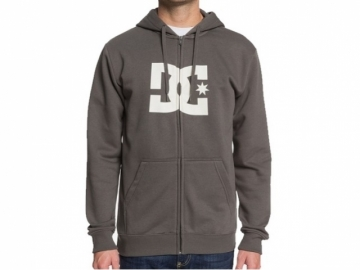 DC Star Zip-Up Hoodie Dark Olive/Antique White (thumb #0)