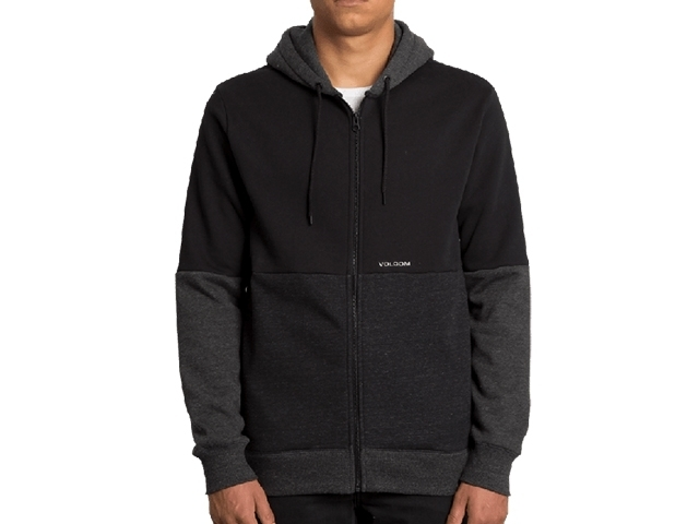 Volcom Single Stone Div Zip Hoodie Black (detaliu #0)