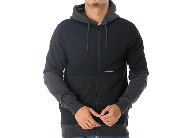 Volcom Single Stone Div Zip Hoodie Black (detaliu #1)
