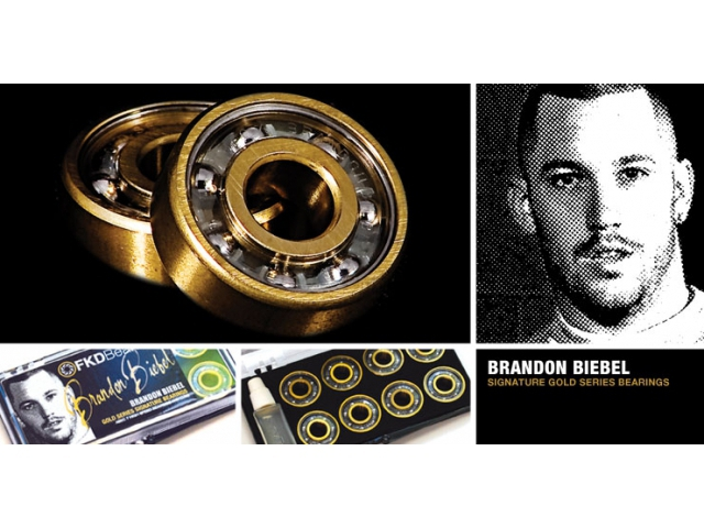 Rulmenti Skate Fkd Gold Series Brandon Biebel Signature Abec7