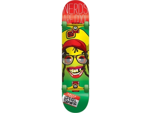 Skate Complet Speed Demons Nerds Are Cool Rasta 7.