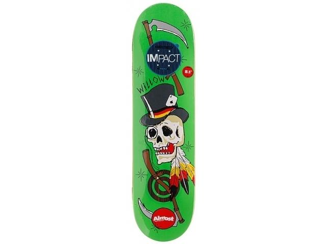 Placa Skate Almost Willow Dirty Skulls Di 8.1