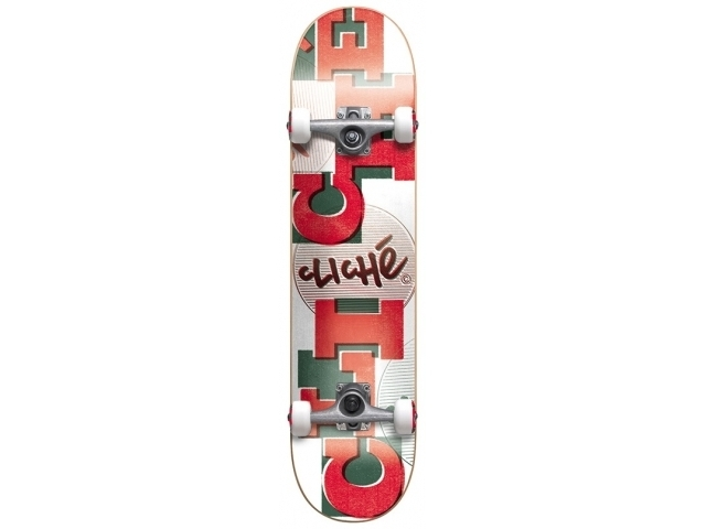 Skate Complet Cliche Uppercase White/red 7.7