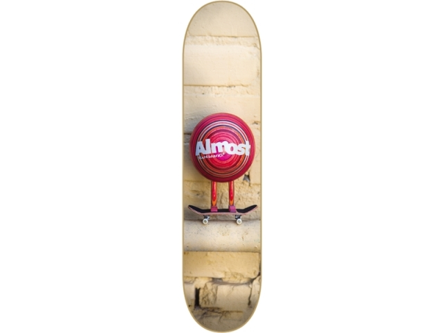 Placa Skate Almost Mo Wood Day Brown/red 8.0