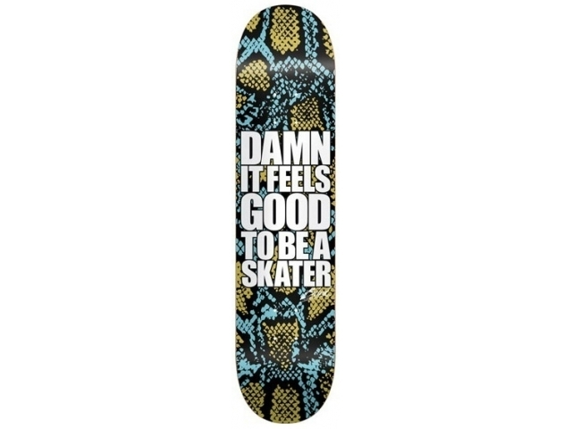 Placa Skate Blind Damn Snake Skin Blue/gold 8.0