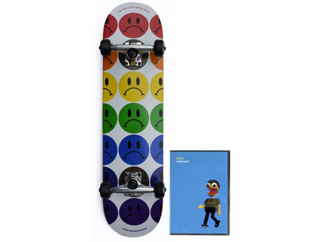 Skate Complet Enjoi Frowny Faces Impact White 7.75