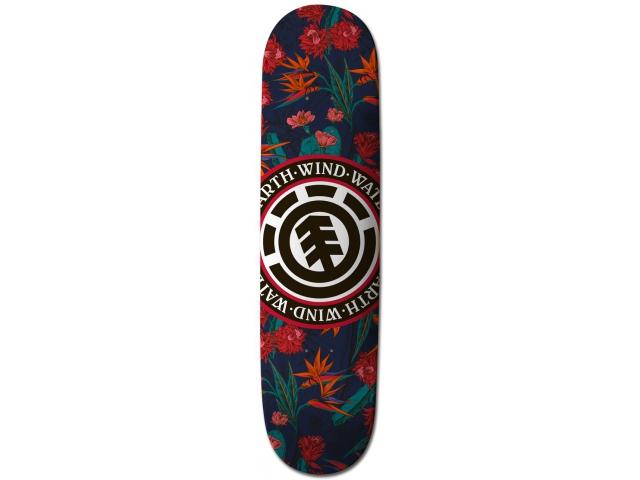 Placa Skate Element Sketch Floral Seal 8