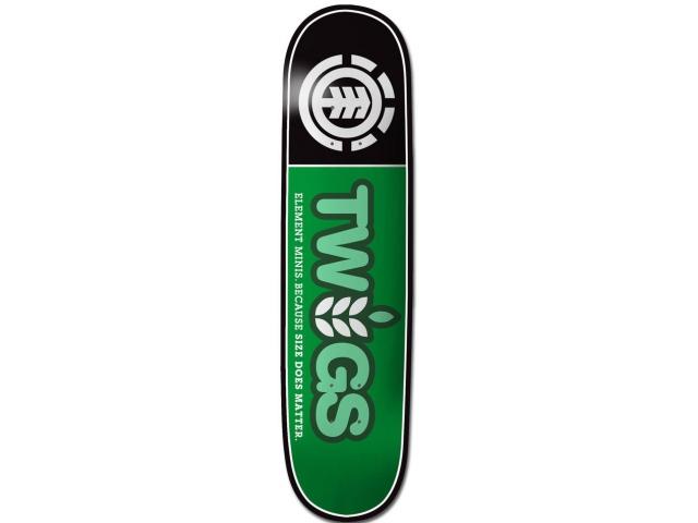 Placa Skate Element Twig Logo Black 7.6