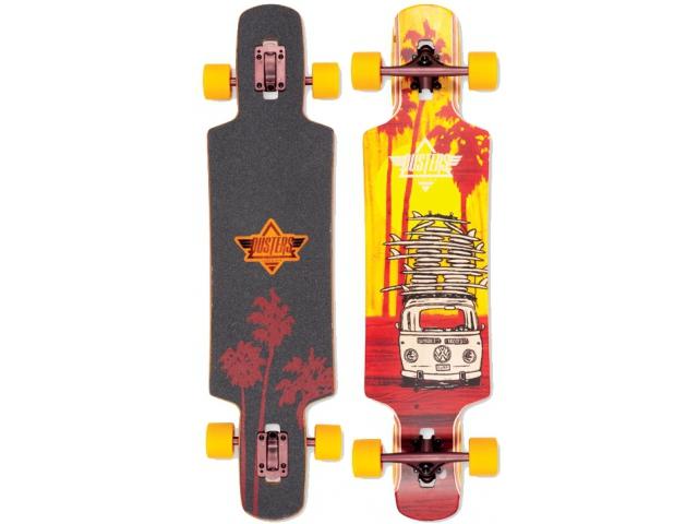 Longboard Dusters Quiver Longboard Yellow/maroon 38.5