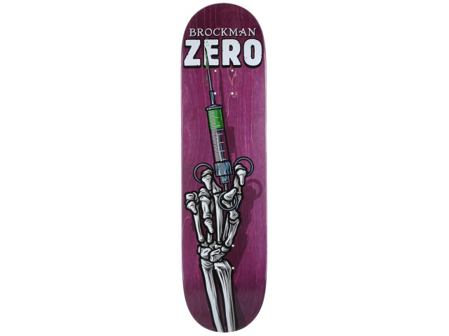 Placa Skate Zero Brockman Skeleton Hands 8.1