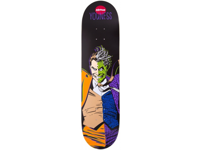 Placa Skate Almost Youness Villain Two Face 8