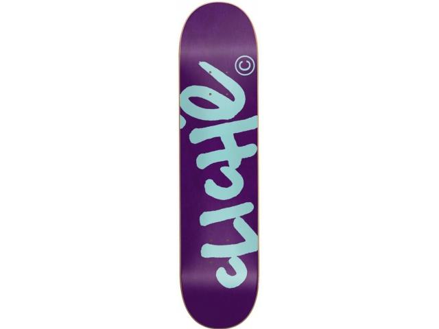 Placa Skate Cliche Handwritten Classic Purple/teal