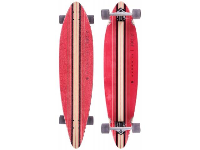Longboard Globe Pinner Complete Red/black 41.25