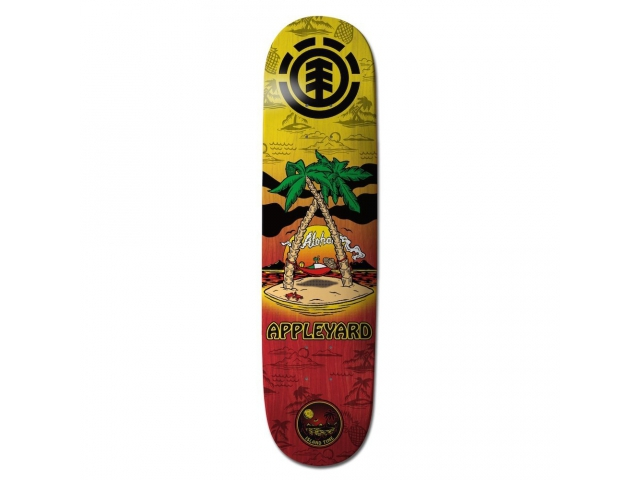 Placa Skate Element Appleyard Island Time 8.0