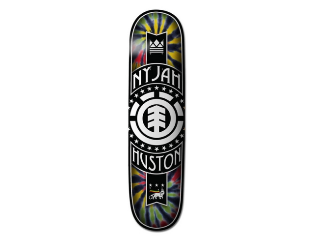 Placa Skate Element Nyjah Rasta Logo 8.0