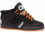 Shoes Osiris NYC 83 Mid SHR BLACK/ORANGE/BLACK