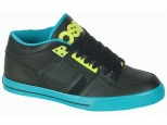 Shoes Osiris NYC 83 Mid Vulc Black/Teal/Lime