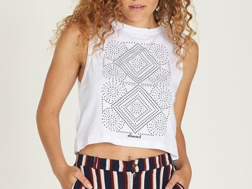 Element Random Crop Tank White (thumb #0)