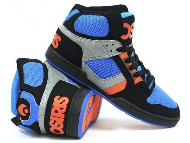 Osiris Shoes Nyc  Black Astor Orange