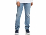 DC Worker Straight Fit Jeans Light Indigo Bleach