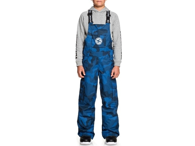 DC Banshee Bib Youth Monaco Blue Pill Camo